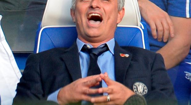 Chelsea manager Jose Mourinho reacts during the defeat to Liverpool Reuters / Philip Brown
