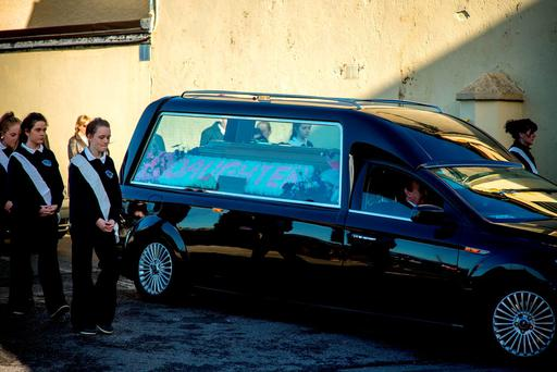 The funeral of murder victim Natalie McGuinness at St. James's Church, Easkey, Co. Sligo. Photo: James Connolly 31OCT15