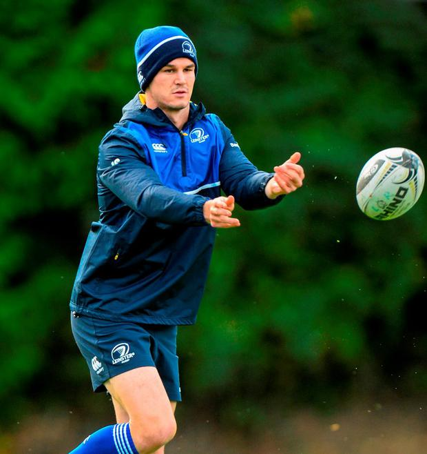 Leinster's Jonathan Sexton during squad training