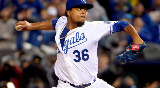 In the first game of the series pitcher Edinson Volquez took to the mound just hours after his father died from a heart attack and contributed six solid innings