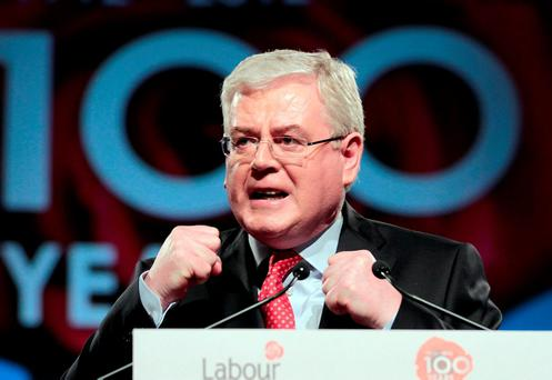 SERIOUS CRISIS: The garda bugging debacle strained relationships between Eamon Gilmore and Labour's Enda Kenny, and almost brought the government down