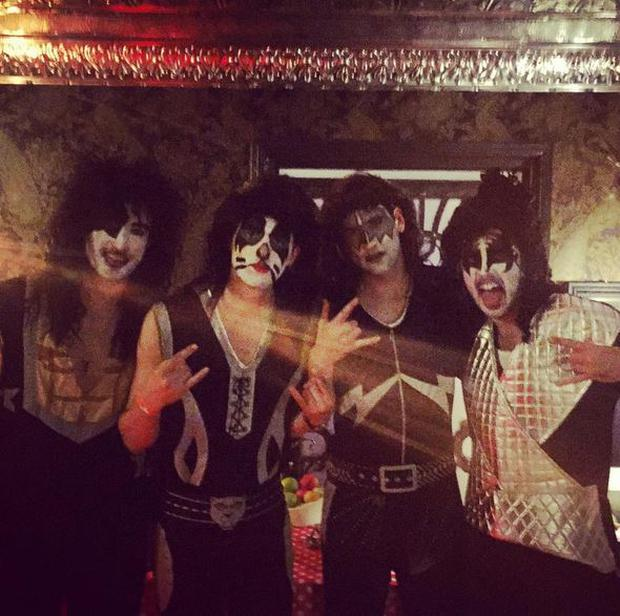 The Coronas dressed as Kiss this Halloween Photo: Instagram: @thecoronasofficial