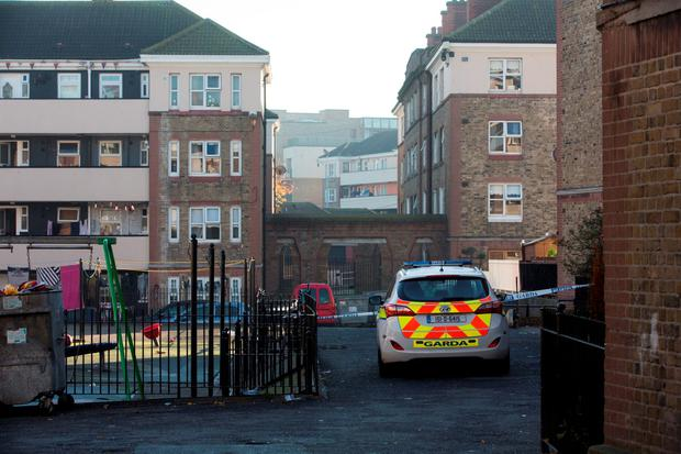 Garda Technical Bureau at the scene where a 21-year-old man has died after he was stabbed to death at the Oliver Bond flat complex. 1/11/2015 Picture by Fergal Phillips
