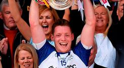 There has been a levelling downward in Ulster in the past few years so there could be an opening for a different county to win the Anglo Celt Cup next year, like Conor McManus (left) did for Monaghan this year