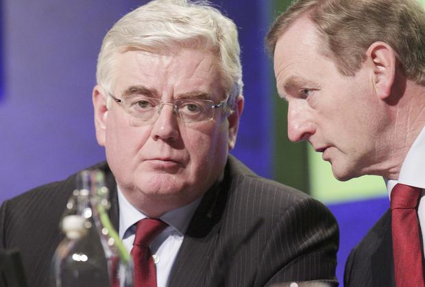Eamon Gilmore and Enda Kenny clashed in the Cabinet room over water charges