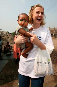 Rose of Tralee Elysha Brennan working with the Hope Foundation in Kolkata