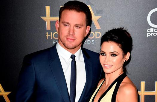 Actors Channing Tatum (L) and Jenna Dewan Tatum arrive for the 19th Annual Hollywood Film Awards at The Beverly Hilton Hotel in Beverly Hills