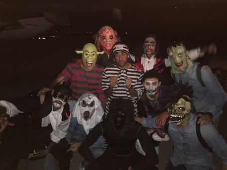 Barcelona players in Halloween costumes