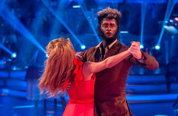 Jay McGuinness and Aliona Vilani dance the American smooth on the Strictly Come Dancing Halloween special
