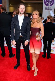 LONDON, ENGLAND - SEPTEMBER 28: Jay McGuiness and Aliona Vilani attend the Pride of Britain awards at The Grosvenor House Hotel on September 28, 2015 in London, England. (Photo by Mike Marsland/WireImage)