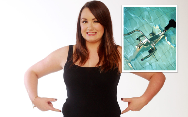 Vicki tackled the Hydrorider this week in her mission to slim down before her 30th birthday
