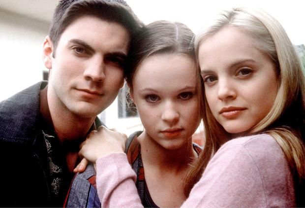 Thora Birch (centre) with American Beauty co-stars Wes Bentley (left) and Mena Suvari (right)