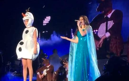 Taylor Swift and Idina Menzel