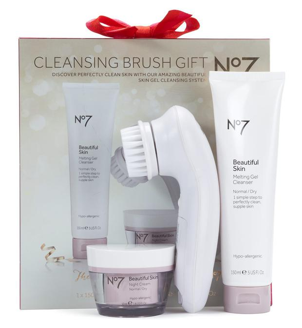 Cleansing brush gift, €43.50 by No 7 at Boots