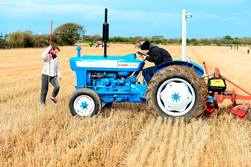 Veronica Heaslip from Tralee and Shane Godley from BallyMacElligott at the recent Abbeydorney Ploughing Championships in Kerry. Photo: Domnick Walsh