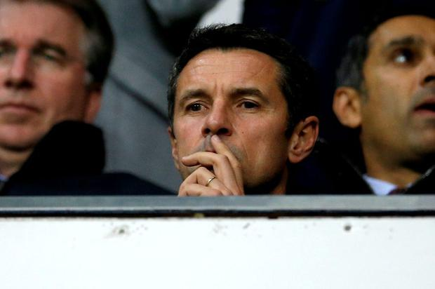 New Aston Villa manager Remi Garde in the stands before the match Action Images via Reuters / Andrew Couldridge