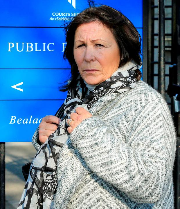 Anna Manning, of Clondalkin, leaves court after she was awarded €22,900