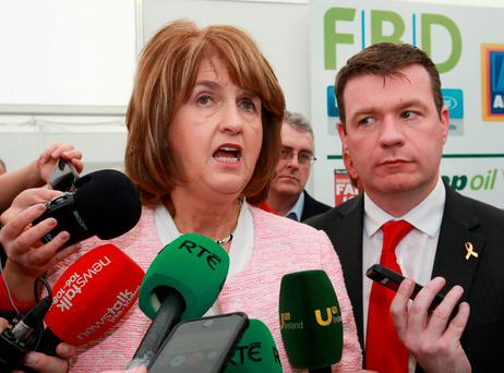 Tánaiste Joan Burton and Alan Kelly