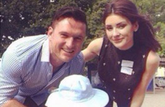 Morgan Deane and ex husband Graeme Smith with their daughter Cadence