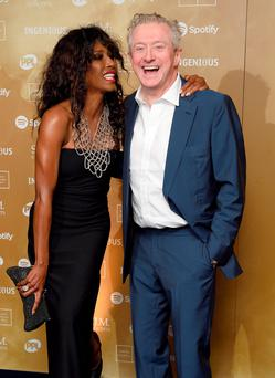 LONDON, ENGLAND - NOVEMBER 02: Sinitta and Louis Walsh attend the Music Industry Trusts Awards in aid of the Nordoff Robbins charity and BRIT Trust at The Grosvenor House Hotel on November 2, 2015 in London, England. (Photo by Karwai Tang/WireImage)
