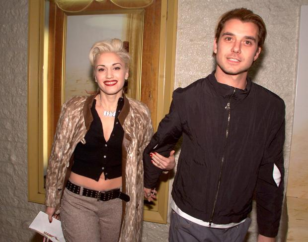 Gavin Rossdale and Gwen Stefani at the premiere of 'The Mexican' at the National Theater in Los Angeles in 2001