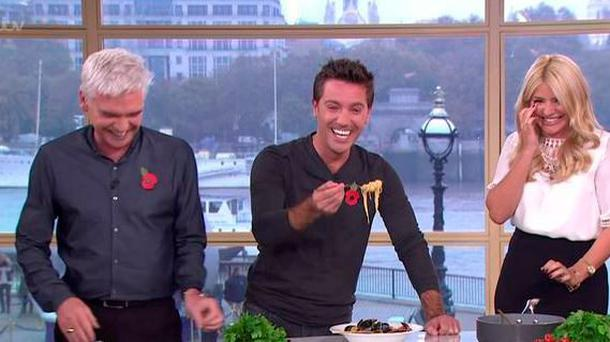 Philip Schofield, Gino D'Acampo and Holly Willoughby on This Morning