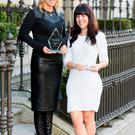 Winner of Creative Businesswoman of the Year: Avril Stanley, CEO, festival director and creative director, Body & Soul and Winner of Young Businesswoman of the Year: Chupi Sweetman-Durney, creative director, Chupi pictured at the 2015 IMAGE Businesswoman of the Year Awards-photo Kieran Harnett