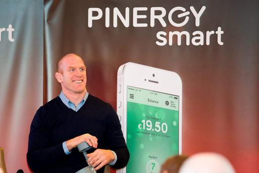 Paul O'Connell launching the PINERGYsmart In-Home Display and mobile app which gives customers control and reduces energy costs.