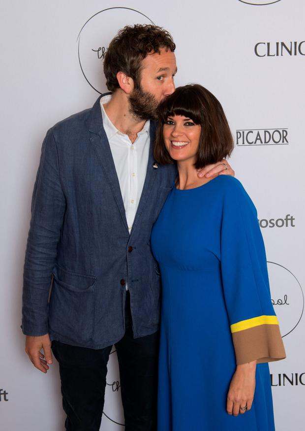 Chris O'Dowd and Dawn O'Porter attend the launch party for The Pool, a unique multi-media platform for busy women co-founded by renowned editor and journalist Sam Baker and broadcaster Lauren Laverne, on April 23, 2015 in London, England. www.the-pool.com (Photo by Samir Hussein/Getty Images for The Pool)