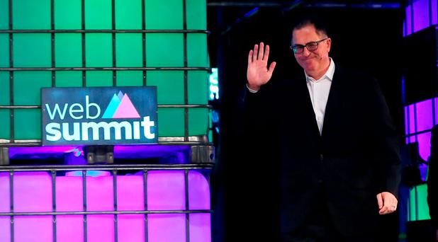 Dell founder Michael Dell speaking at the three day Web Summit which opens at the RDS in Dublin: Niall Carson/PA Wire