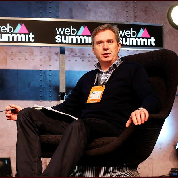 Stephen Rae, Editor in Chief at Independent News & Media in conversation at the Content Summit stage at the Web Summit at the RDS. Pic Steve Humphreys