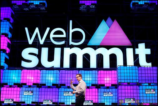Mike Schroepfer from FACEBOOK speaking about 'Connecting thre World' at the Web Summit at the RDS. Pic Steve Humphreys 3rd November 2015.