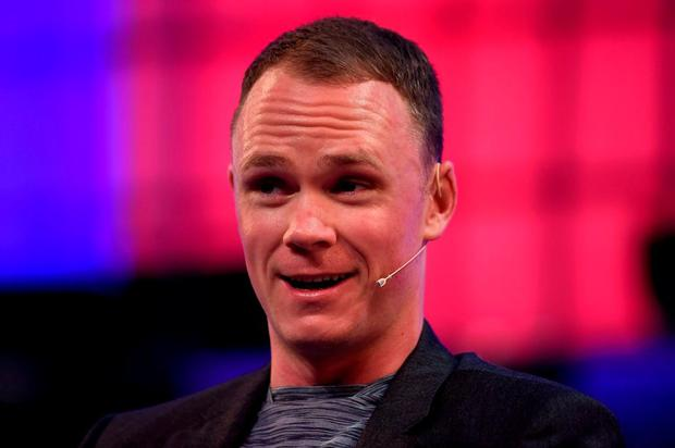 Chris Froome, Cyclist, Team Sky, on the Centre Stage during Day 1 of the 2015 Web Summit in the RDS, Dublin, Ireland. Picture credit: Stephen McCarthy / SPORTSFILE / Web Summit