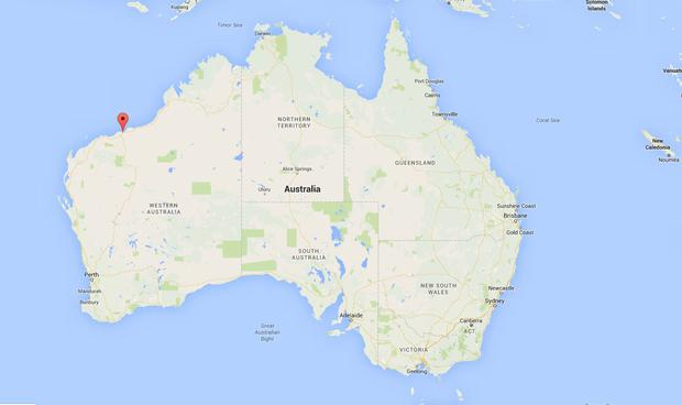The area in western Australia where the accident happened