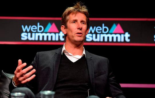 Edwin van der Sar, CMO & Champions League Winner, Ajax, on the Sport Stage during Day 1 of the 2015 Web Summit in the RDS, Dublin, Ireland. Picture credit: Brendan Moran / SPORTSFILE / Web Summit
