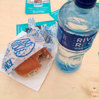 Twitter user Catriona Dwyer posted this image of her €20 lunch, saying she was 'livid'