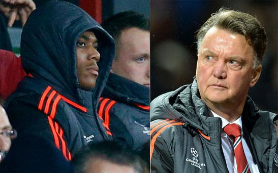 Old Trafford fans were unimpressed with Louis van Gaal's substitution