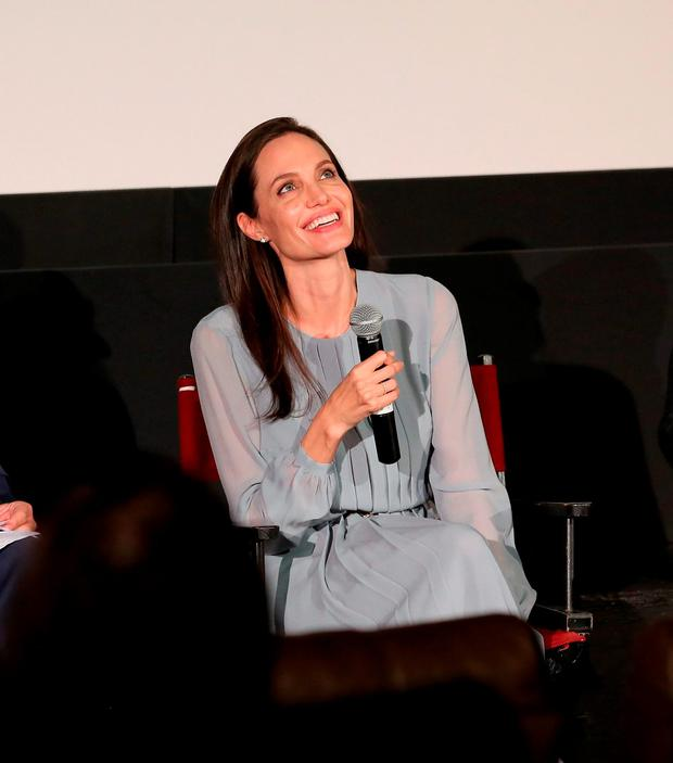 Angelina Jolie attends an official Academy Screening of BY THE SEA hosted by The Academy Of Motion Picture Arts And Sciences on November 3, 2015 in New York City. (Photo by Robin Marchant/Getty Images for Academy of Motion Picture Arts and Sciences)