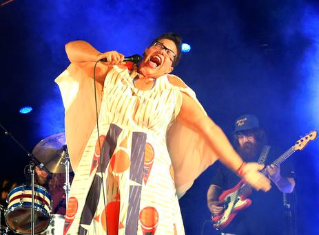 INDIO, CA - APRIL 10: Musician Brittany Howard of Alabama Shakes performs onstage during day 1 of the 2015 Coachella Valley Music & Arts Festival (Weekend 1) at the Empire Polo Club on April 10, 2015 in Indio, California. (Photo by Christopher Polk/Getty Images for Coachella)
