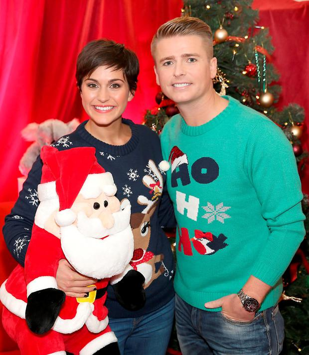 Brian Ormond and Maria Walsh pictured at Tv3's Studio in Ballymount, Dublin when it was announced that they will be the hosts of this years Tv3 Toy Show . The Tv3 Toy Show will air on Friday 20th November at 9pm. Pictures Brian McEvoy No Repro fee for one use