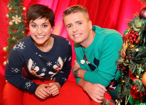 Brian Ormond and Maria Walsh pictured at Tv3's Studio in Ballymount, Dublin when it was announced that they will be the hosts of this years Tv3 Toy Show. Pictures Brian McEvoy