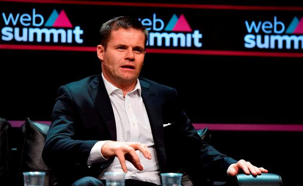 Dessie Farrell, CEO, Gaelic Players Association, on the Sport Stage during Day 2 of the 2015 Web Summit in the RDS, Dublin, Ireland. Picture credit: Brendan Moran / SPORTSFILE / Web Summit