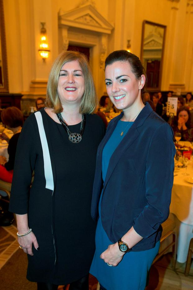 Karen Preston INM and Brighid Carson INM at the women in business network at the Westin Hotel, Dublin. Pic:Mark Condren 4.11.2015