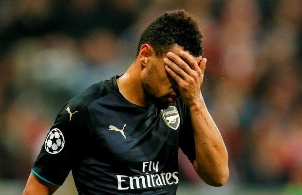 Arsenal's Francis Coquelin looks dejected Action Images via Reuters / John Sibley