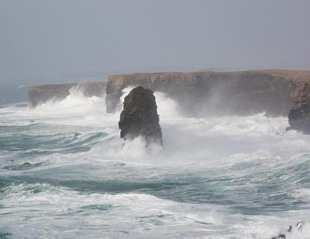 The cliffs outside Kilkee in Co Clare are part of the Loop Head trail, which won gold in the World Responsible Tourism Awards
