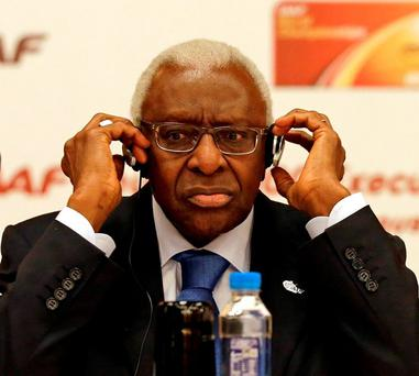 Former IAAF president Lamin Diack has been placed under investigation on corruption and money-laundering charges