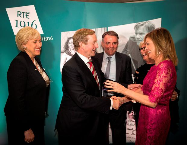 Minister Heather Humphreys, Taoiseach Enda Kenny, Noel Curran, Moya Doherty and Mary Kennedy at the launch