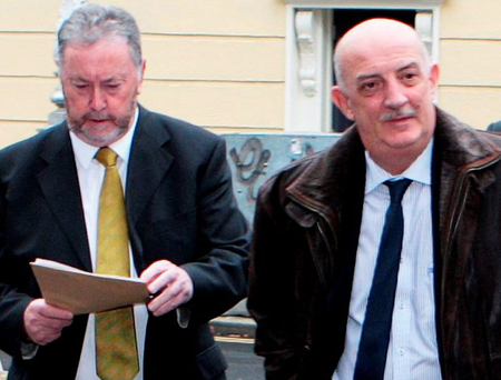 PJ Stone (left) and John Healy of the Garda Representative Association at Leinster House yesterday
