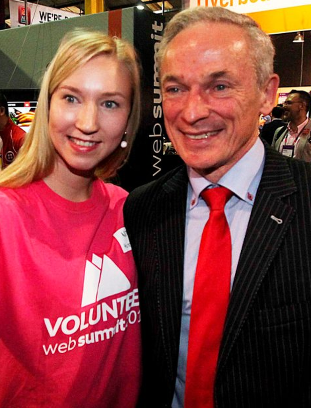 Richard Bruton with Netta Huttunenat the Web Summit