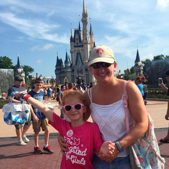 Carol and her daughter Sara pictured in Disney